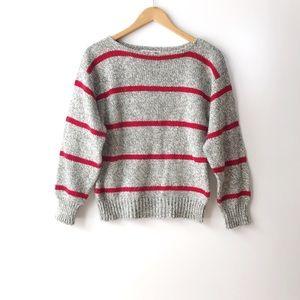 Vintage Diane Von Furstenberg Red Striped Sweater